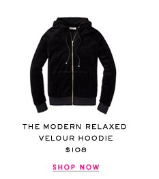 The Modern Relaxed Velour Hoodie. $108. Shop Now.