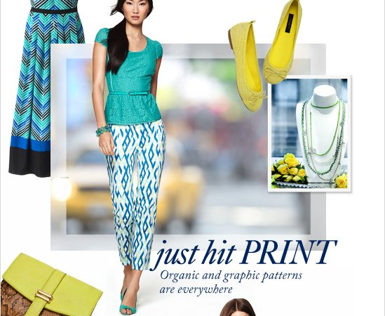 JUST HIT PRINT Organic and graphic patterns  are everywhere