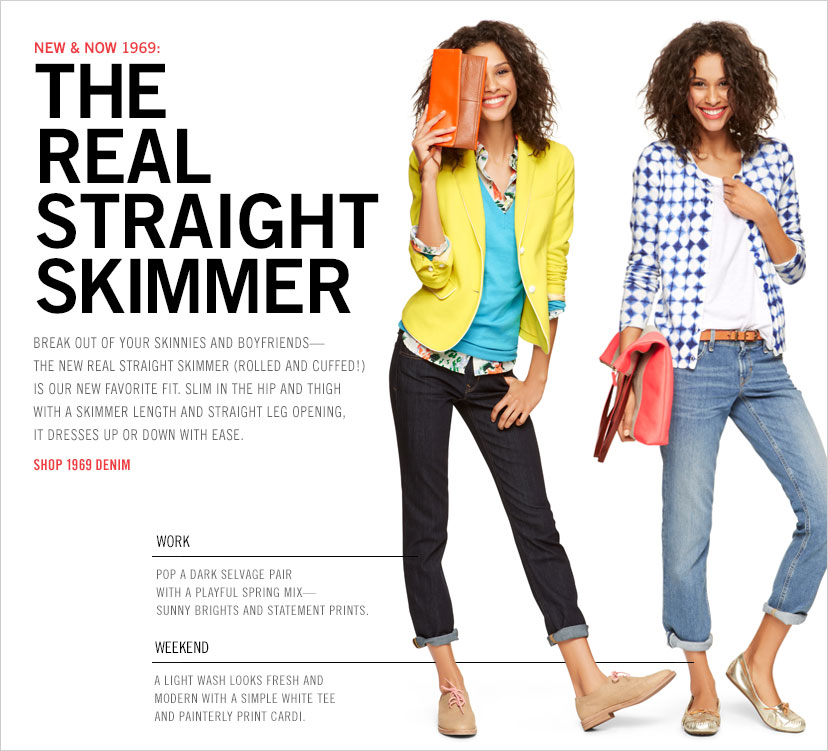 NEW & NOW 1969: THE REAL STRAIGHT SKIMMER | SHOP 1969 DENIM