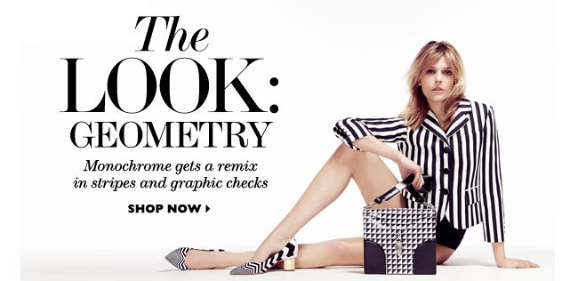 The Look: Geometry Monochrome gets a remix in stripes and graphic checks