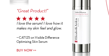 """Great Product!"" I love the serum! I love how it makes my skin feel and glow. -Cat125on Visible Difference Optimizing Skin Serum. BUY NOW."