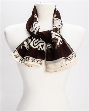 A&G Prestige Printed Sheer Silk Scarf