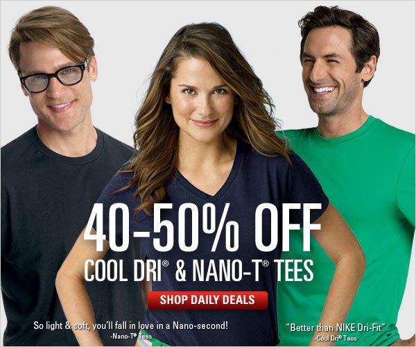 40-50% off Cool Dri and Nano-T Tees