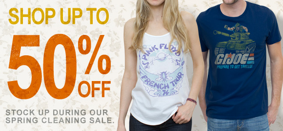 Shop up to 50% off. Stock up during our Spring Cleaning Sale.