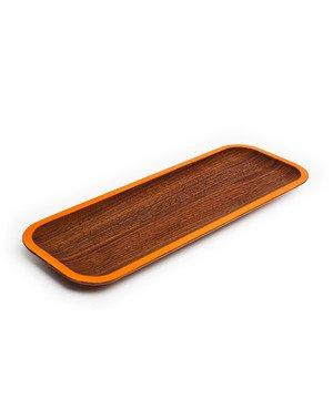 Wood tray-orange