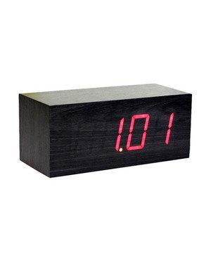 Red LED Large Black Clock