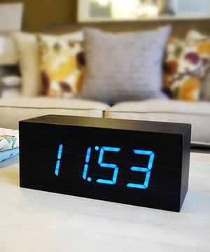 Large Black Wood Clock