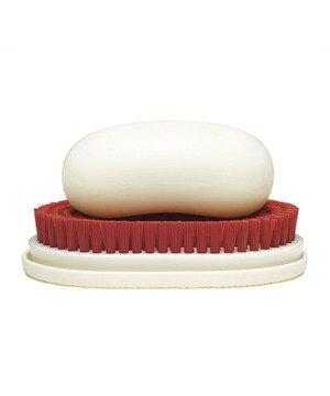 Red Bristle Soap Dish