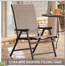 Extra-Wide Backyard Folding Chair