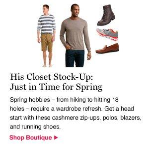 His Closet Stock-Up