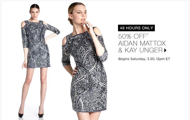 50% Off Aidan Mattox & Kay Unger...Shop Now