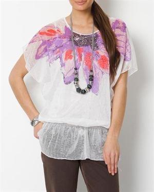 Jessica Taylor Floral Rhinestone Blouse $25