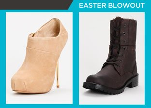 Easter Weekend Blowout: Shoes for Him & Her from $1