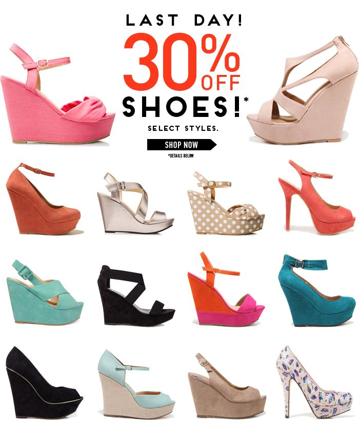 30% Off Shoes Ends Today! - Shop Now