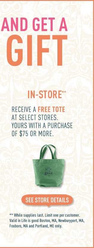 Free gift with a $75 purchase