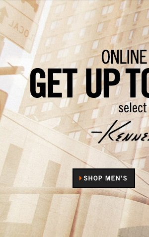 ONLINE OUTLET GET UP TO 50% OFF SELECT STYLES // SHOP MEN'S