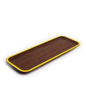 Wood tray-yellow
