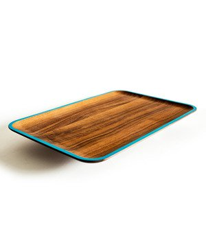 Wood Platter-dark blue