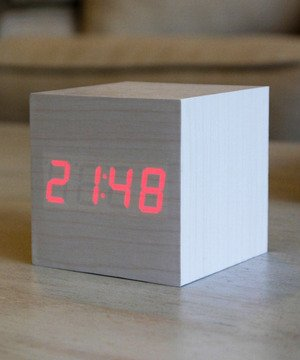 White Rabbit Wood Clock