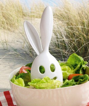 Bunny Salad Server - White