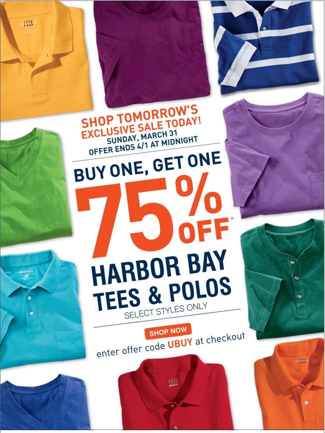 Shop Select Harbor Bay Polos and Tees
