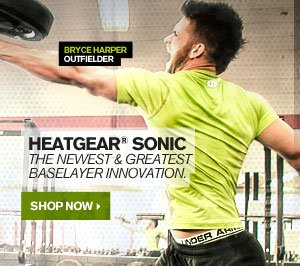 HEATGEAR® SONIC - THE NEWEST & GREATEST BASELAYER INNOVATIONS. SHOP NOW