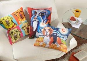 Pawcasso, Van Growl & Woofhol Pillows