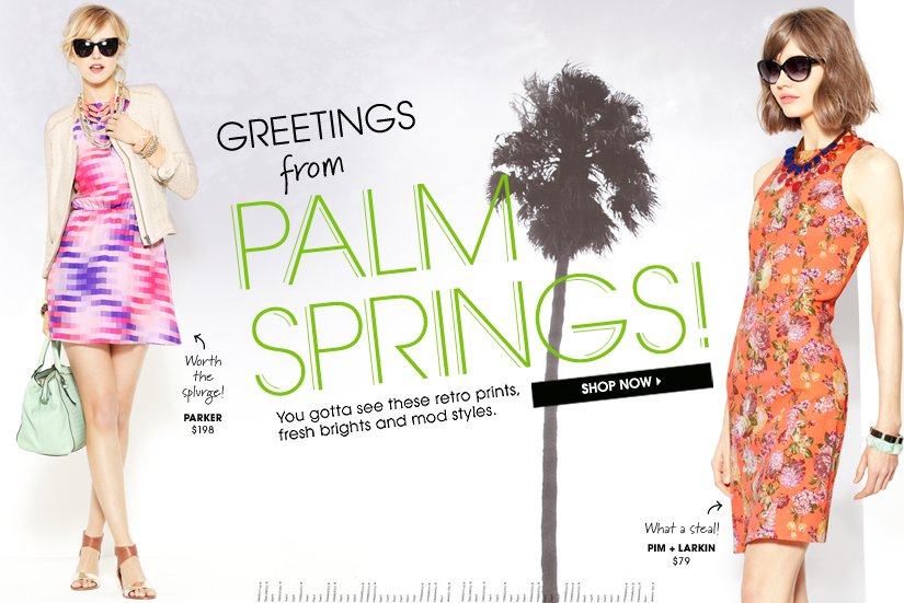 GREETINGS from PALM SPRINGS! SHOP NOW