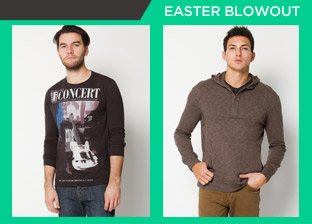 Easter Weekend Blowout: Men's Apparel from $1