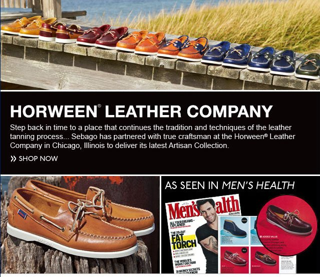 Horween Leather Company Sebago has partnered with true craftsman at the Horween Leather Company in Chicago to deliver its latest Artisan Collection. Shop Now
