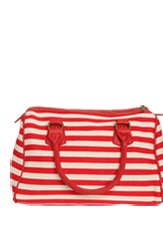 Canvas Striped Satchel