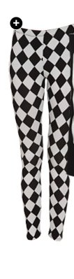 Checkered Print Ankle Legging