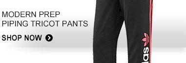 modern prep piping tricot pants