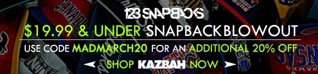 Blowout Sale on Snapbacks: $19.99 on 123Snapbacks