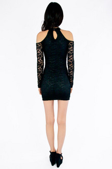 Cold Shoulder Lace Bodycon Dress $26