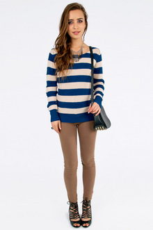 Nautical Striped Sweater $30
