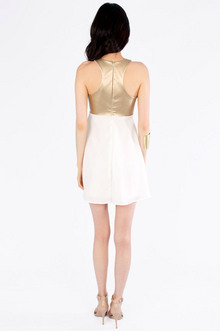 Racerfront Contrast Dress $30