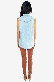 Sun Bleached Denim Shirt $36