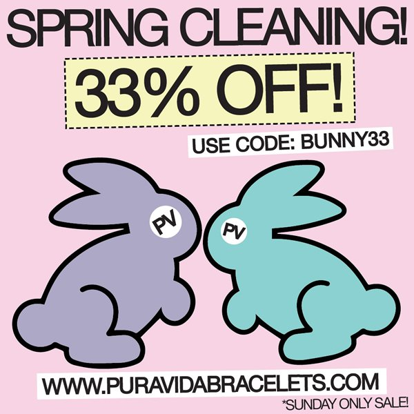 Spring Cleaning Sale! 33% OFF Everything
