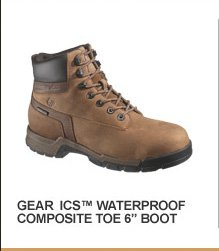 "Gear ICS Waterproof Composite Toe 6"" Boot"