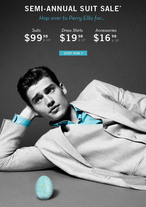 Semi-Annual Suit Sale Starting at $99.98