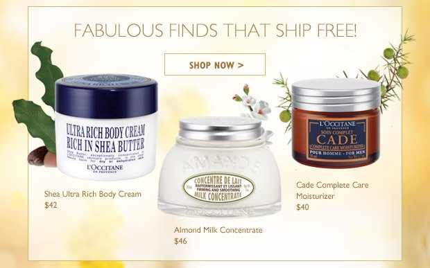 Fabulous $40+ Finds That Ship FREE! Shea Ultra Rich Body Cream $42  Almond Milk Concentrate $46  Cade Complete Care Moisturizer $40