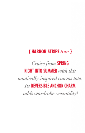 Harbor stripe tote