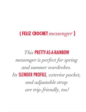 Feliz crochet messenger