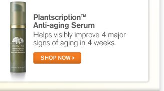 Plantscription Anti aging Serum Helps visibly improve 4 major signs of aging in 4 weeks SHOP NOW
