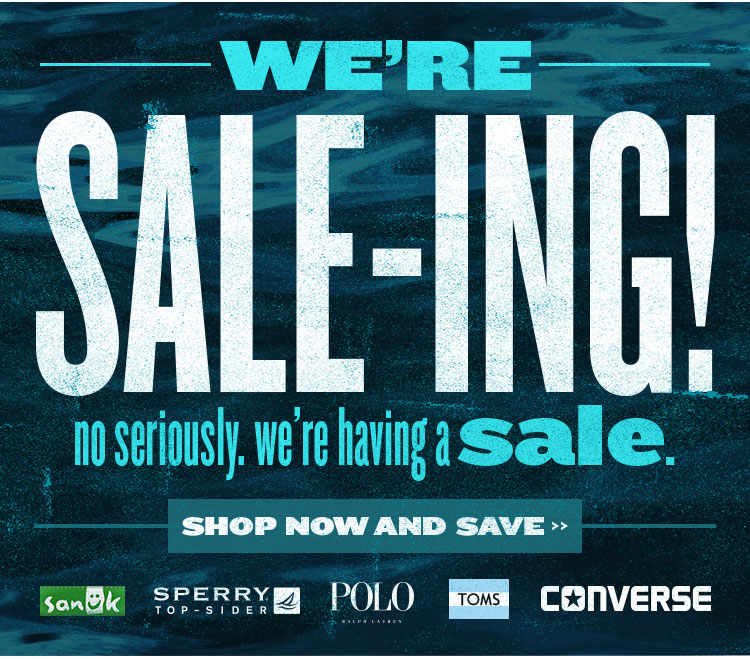 We're Sale-ing! No seriously. We're Having a Sale.