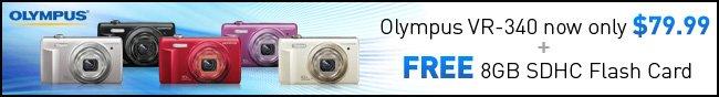 Olympus VR-340 now only $79.99 + FREE 8GB SDHC Flash Card.