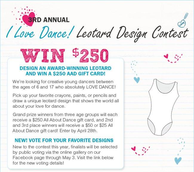 Enter the Leotard Design Contest