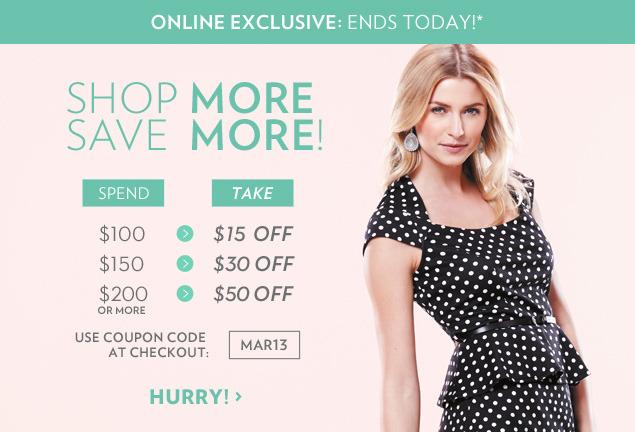 Shop More and Save More!