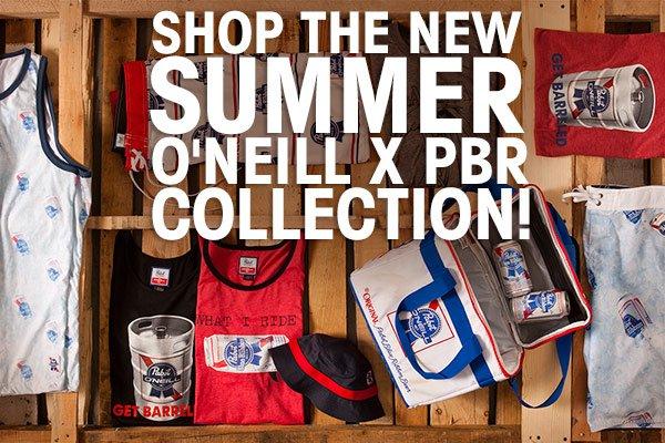O'Neill x Pabst Blue Ribbon Summer Gear!